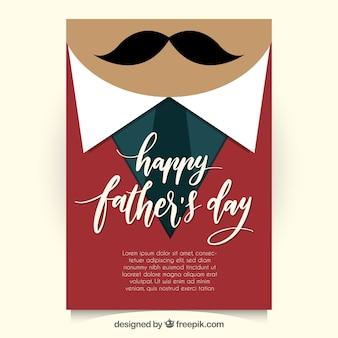 Tarjeta de felicitación del día del padre plana