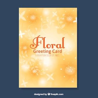 Tarjeta de felicitación floral amarilla