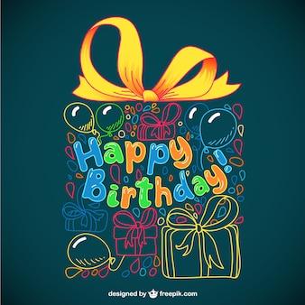 Tarjeta de felicitación para cumpleaños