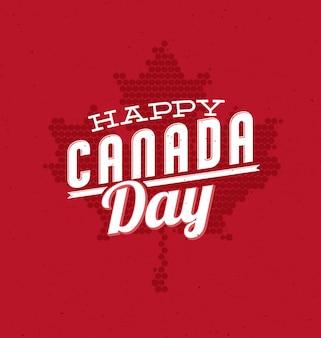 Tarjeta de felicitación para el día de canadá