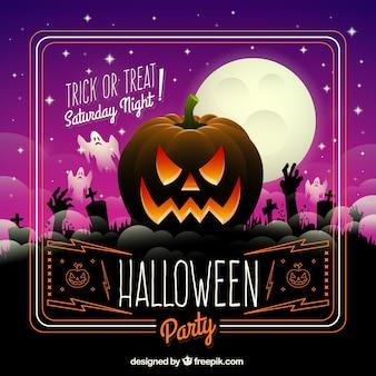 Tarjeta de fiesta de Halloween