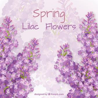 Tarjeta de flores lilas