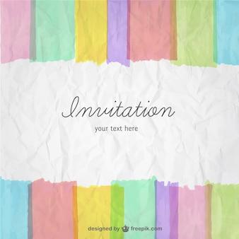 Tarjeta de invitación colorida