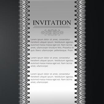 Tarjeta de invitación con patrón sin fisuras floral