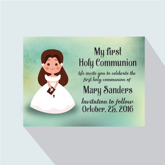Tarjeta de invitación de primera comunión