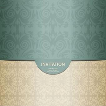 Tarjeta de invitación elegante