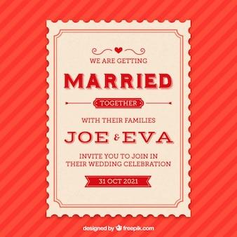 Tarjeta de invitación Matrimonio