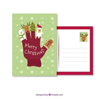 Tarjeta de la historieta de vacaciones de Navidad