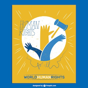 Tarjeta de los derechos mundiales humanos
