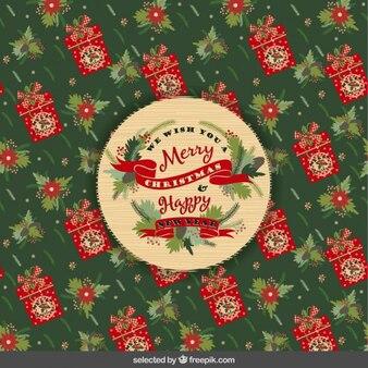 Tarjeta de navidad vintage