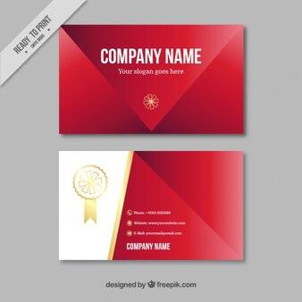 Tarjeta de negocio de color rojo