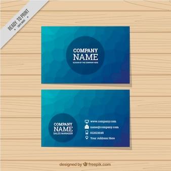 Tarjeta de negocios abstracta en color azul