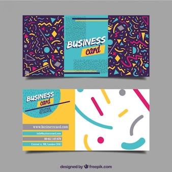 Tarjeta de negocios alegre con formas geométricas