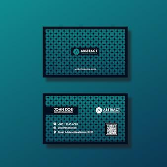 Tarjeta de negocios con diseño azul