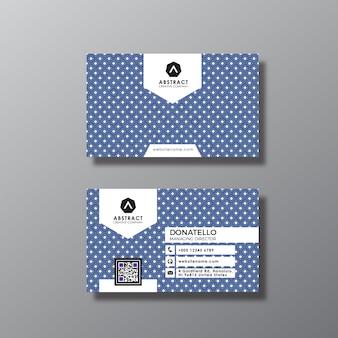 Tarjeta de negocios con diseño de puntos