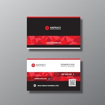 Tarjeta de negocios con diseño negro y rojo