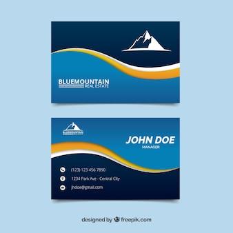 Tarjeta de negocios de montaña