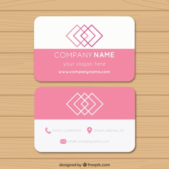 Tarjeta de negocios rosa