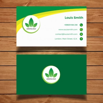 Tarjeta de negocios verde