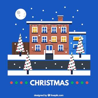 Tarjeta de noche de navidad