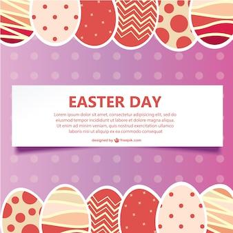 Tarjeta de Pascua vectorial