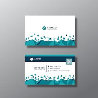 Tarjeta de presentación azul y blanca