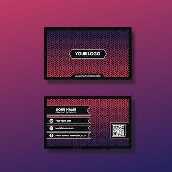 Tarjeta de presentación con diseño de rosa oscuro