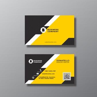 Tarjeta de presentación con diseño geométrico