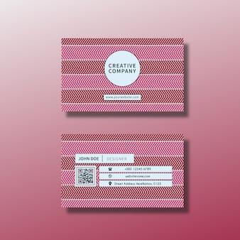 Tarjeta de presentación con diseño rosa
