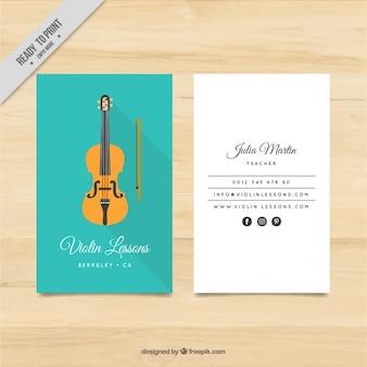 Tarjeta de profesora de violín