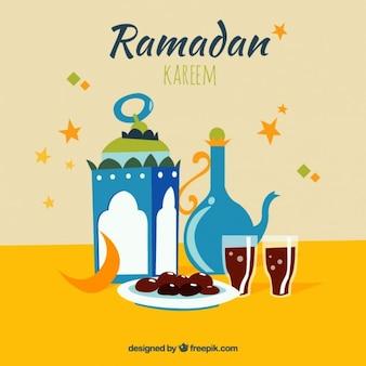 Tarjeta de ramadan de iftar