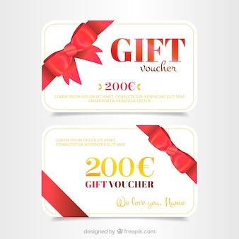 Tarjeta de regalo promocional