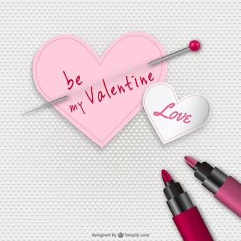 Tarjeta de San Valentín de corazones