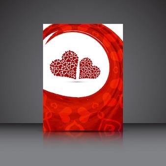 Tarjeta de San Valentín en acuarela