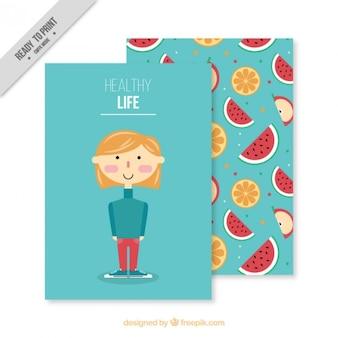 Tarjeta de vida saludable