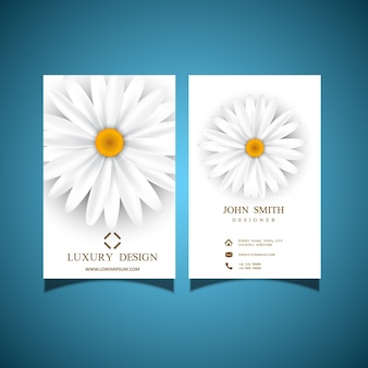 Tarjeta de visita con diseño elegante flor