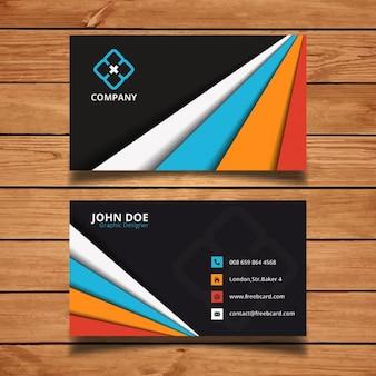 Tarjeta de visita con formas de colores