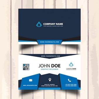 Tarjeta de visita corporativa azul