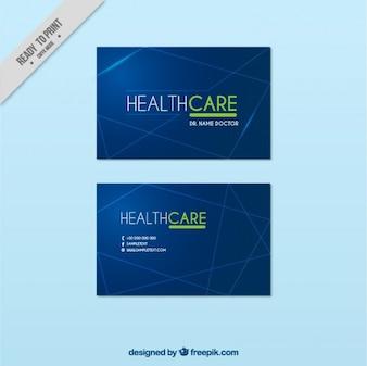 Tarjeta de visita de cuidados médicos
