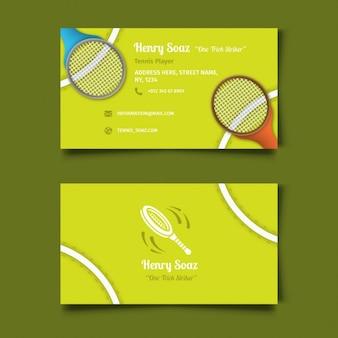 Tarjeta de visita de tenis
