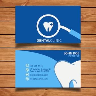 Tarjeta de visita dental azul