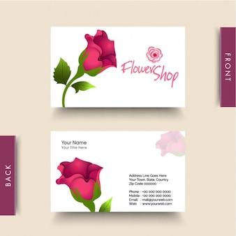 Tarjeta de visita para floristería