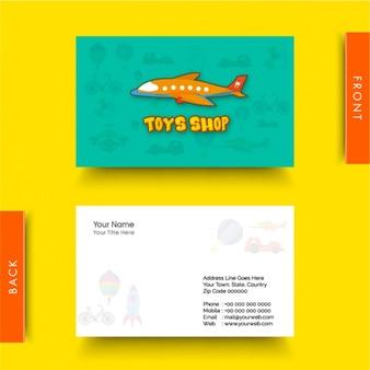 Tarjeta de visita para tienda de juguetes