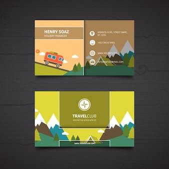 Tarjeta de visita para un negocio de viajes