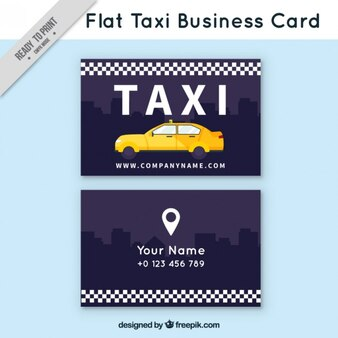 Tarjeta de visita plana para taxis