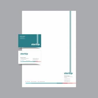 Tarjeta de visita startups y diseño de cabecera