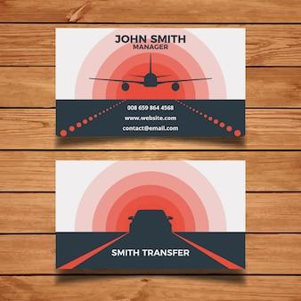 Tarjeta de visita transferencia de aeropuerto