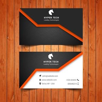 tarjeta de visita y negro naranja