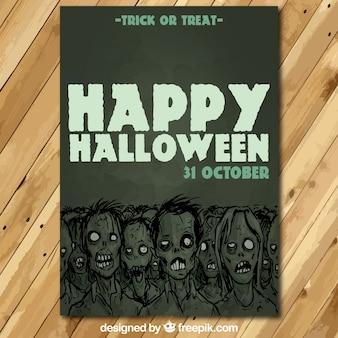 Tarjeta de Zombie para Halloween