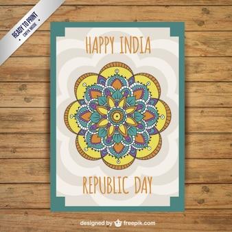 Tarjeta decorativa del Día de la República
